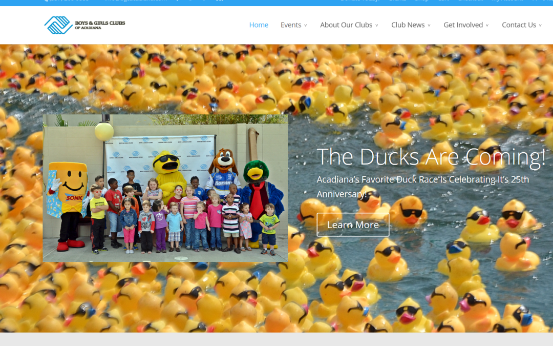 New Website For The Boys & Girls Clubs of Acadiana